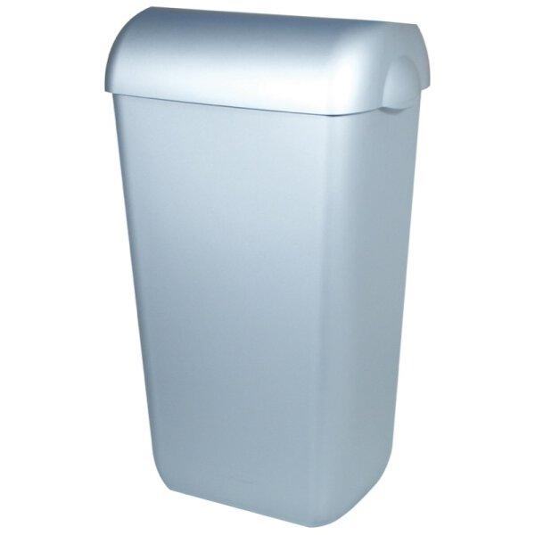PlastiQline Abfallbehälter Kunststoff mit Edelstahl Optik 23 Liter Swing Deckel