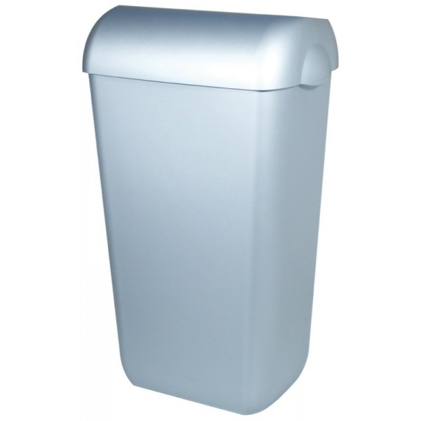 PlastiQline Abfallbehälter Kunststoff mit Edelstahl Optik - Artikel 5676