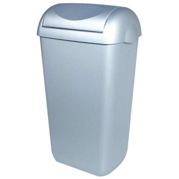 PlastiQline Abfallbehälter Kunststoff mit Edelstahl Optik