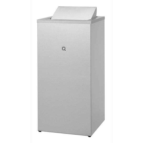Qbic-line Abfallbehälter Edelstahl geschlossen 85 Liter - Artikel 7180