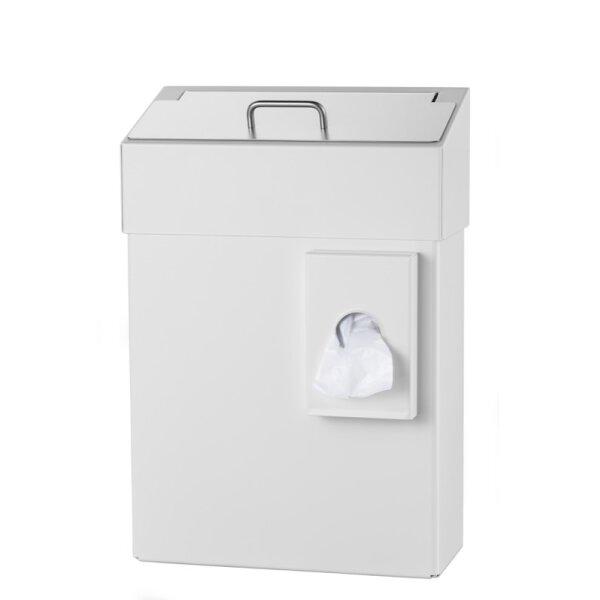 MediQo-line Hygiene-Abfallbehälter + Hygienebeutelhalter 10 Liter weiß - artikel 8255