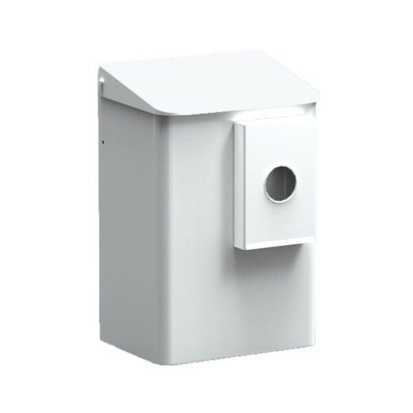 MediQo-line Hygiene-Abfallbehälter + Hygienebeutelhalter 6  liter weiß - artikel 8405