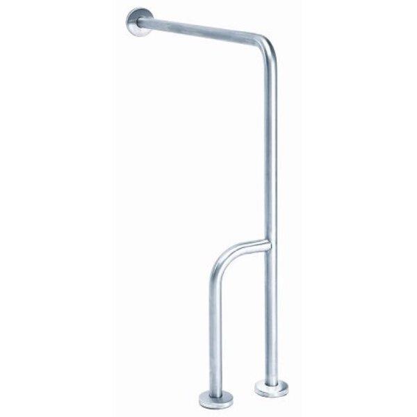 MediQo-line Wand -> Bodenhaltegriff mit extra Stutzstange Edelstahl - Artikel 12660