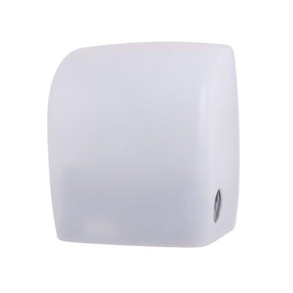 PlastiQline Handtuchrollen Spender Kunststoff weiß-transparent