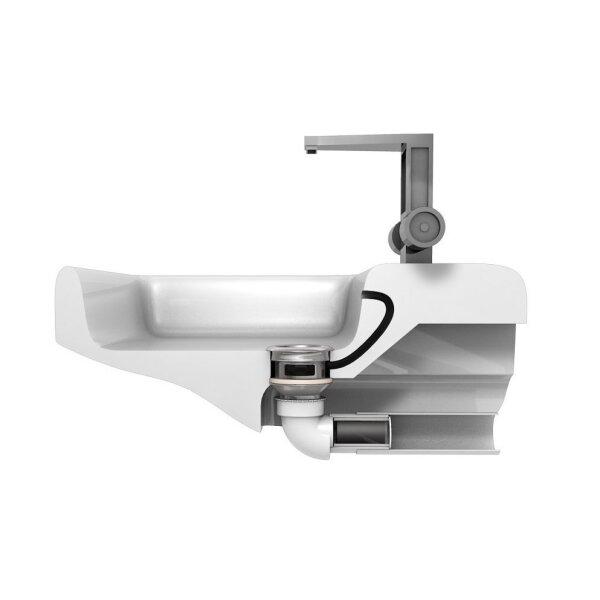 Raumsparsiphon für Waschbecken