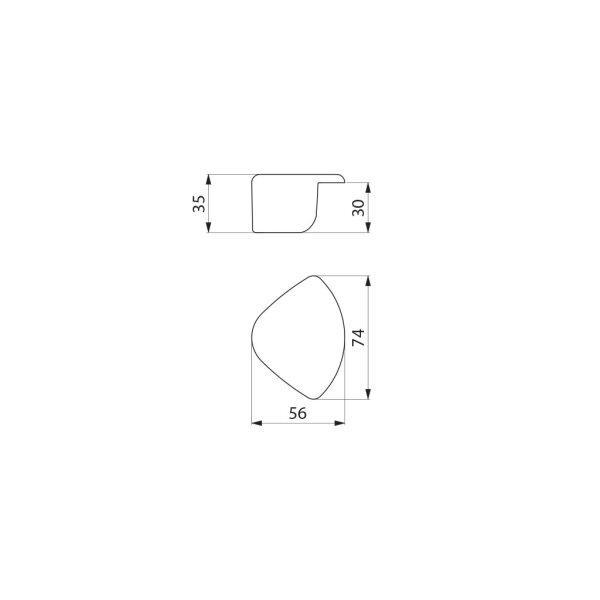 Kantenschutz für Waschrinne CANAL, 2 Stück