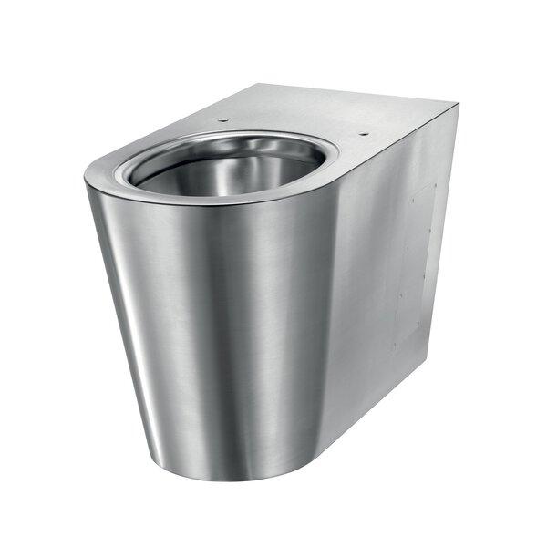 WC S21 P bodenst. Anschl. von hinten Edst. 1.4301 satiniert