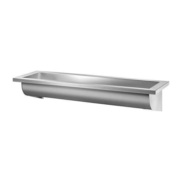 Waschrinne CANAL L.1200 ohne Hahnloch Ablauf links Edelstahl 1.4301 satiniert