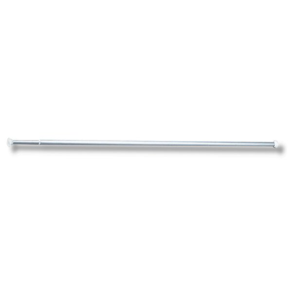 Vorhang-Stange gerade ausziehbar ECO D20 - 0,80-2,10 m, Aluminium poliert