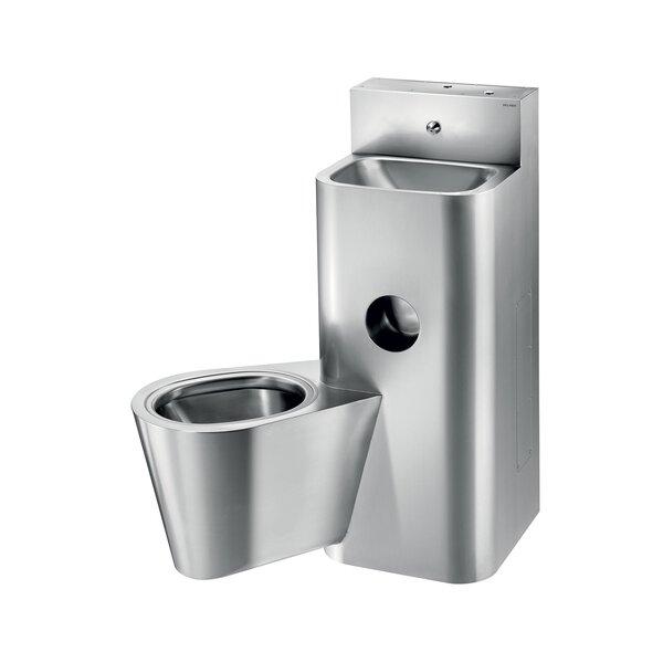 Gefängniskombi KOMPACT WT WC wandh. li Edst. 1.4301 sat