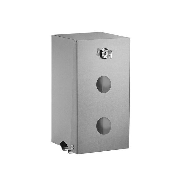 WC-Papierhalter f. 2 Rollen,Edst. seidengl.