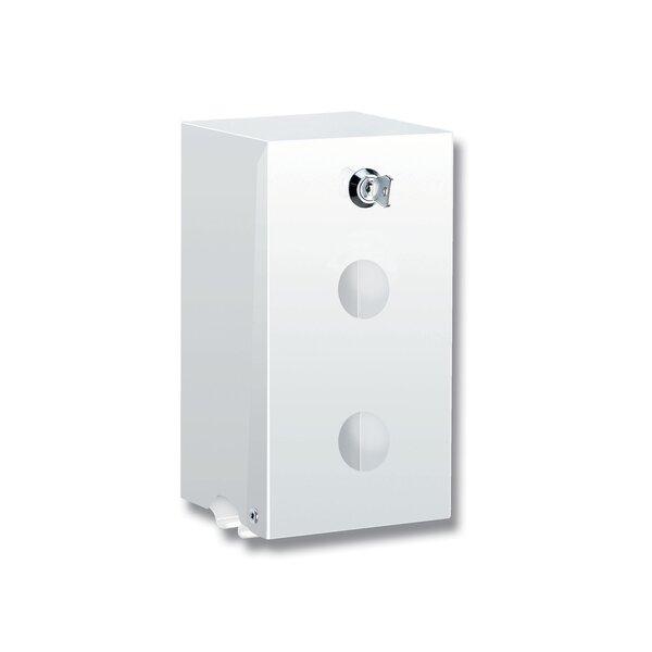 WC-Papierhalter für 2 Rollen, pulverbeschichtet weiß