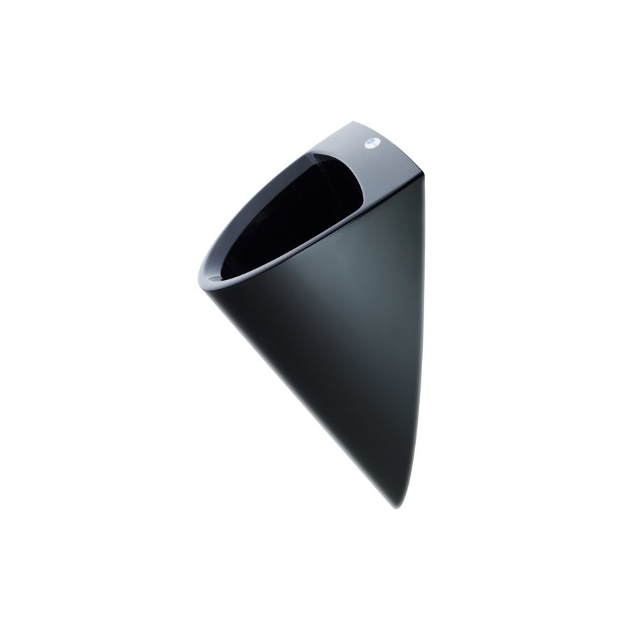 wasserloses pissoir culuone in schwarz. Black Bedroom Furniture Sets. Home Design Ideas