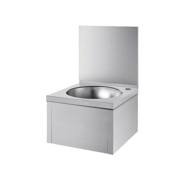 Waschtisch SXS o. Armatur mit Rückwand Edst. 1.4301 satiniert