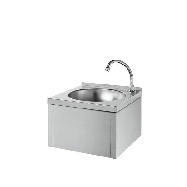 Waschtisch SXS kpl. mit Selbstschl.-Ventil Edst. 1.4301 sat.