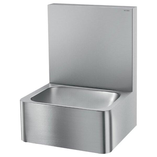Waschtisch Hygiene hohe Rückwand Edst. 1.4301 satiniert