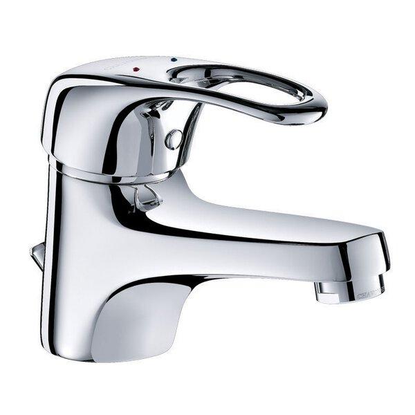Einhebelmischer für Waschtisch, H. 60 mm, Zugstangenablaufgarnitur, Bügelgriff