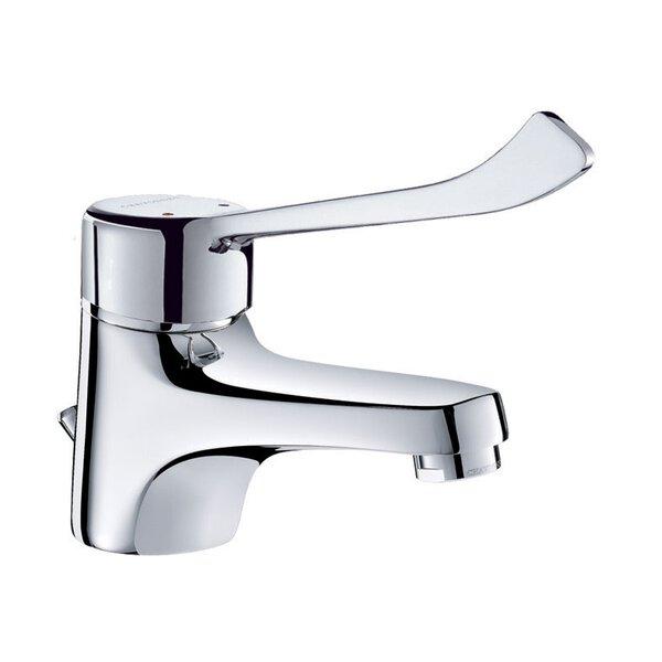 Einhebelmischer für Waschtisch H. 60 mm, Zugstangenablaufgarnitur, Hygienehebel
