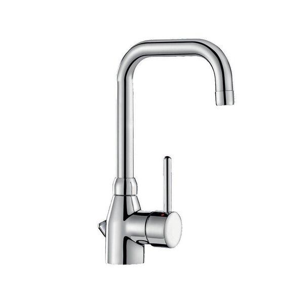 Einhebelmischer für Waschtisch, Schwenkauslauf H. 200 L. 150 mm mit Zugstangenablaufgarnitur
