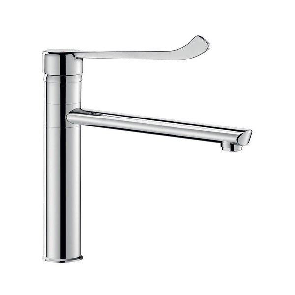Einhebelmischer Schwenkauslauf L250 H165 Hygienehebel