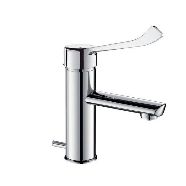 EHM f. WT,H85 L120 mm, Zugstangenablaufgarnitur,Hygienehebel