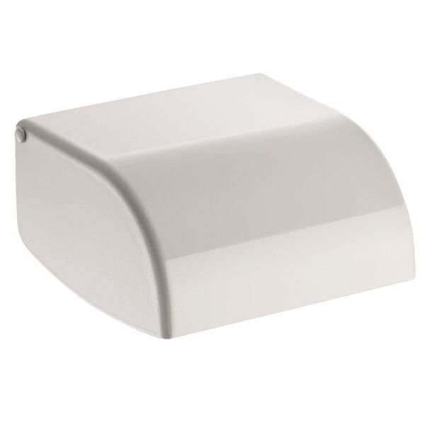 WC-Papierhalter Edelstahl 1.4301 pulverbeschichtet weiß
