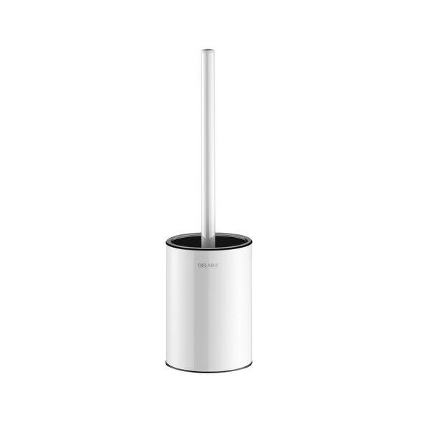 WC-Bürstengarnitur Stand-Montage ohne Abdeckung Edelstahl pulverbeschichtet weiß