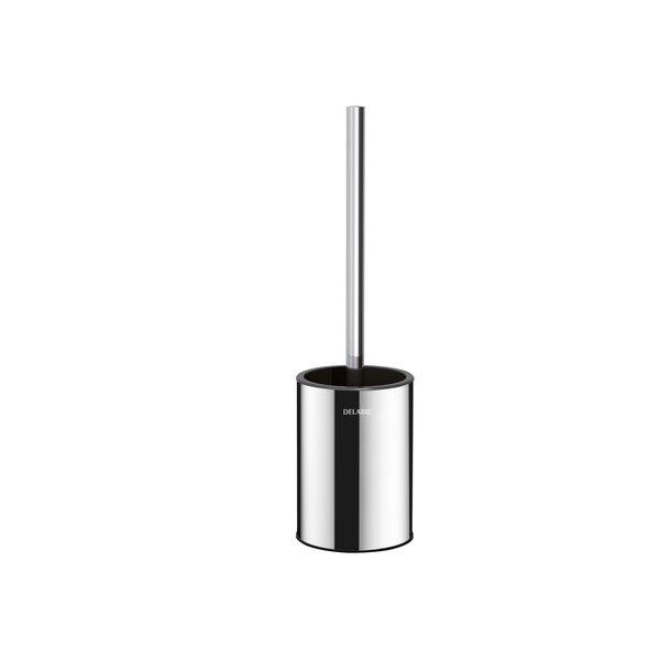 WC-Bürstengarnitur Stand-Montage ohne Abdeckung Edelstahl hochglanzpoliert