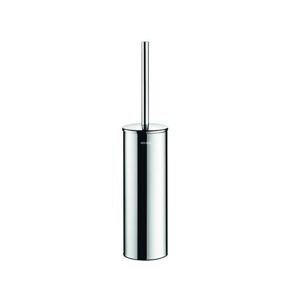 WC-Bürstengarnitur Stand-Montage mit Abdeckung Edelstahl hochglanzpoliert