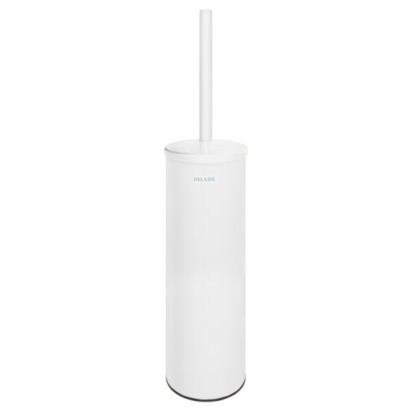 WC-Bürstengarnitur Wandmontage mit Abdeckung Edst. pulverbeschichtet matt weiß