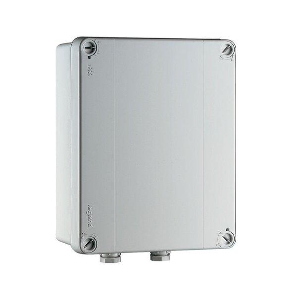 Trafo 230/12V in wassergeschütztem Kasten PVC grau