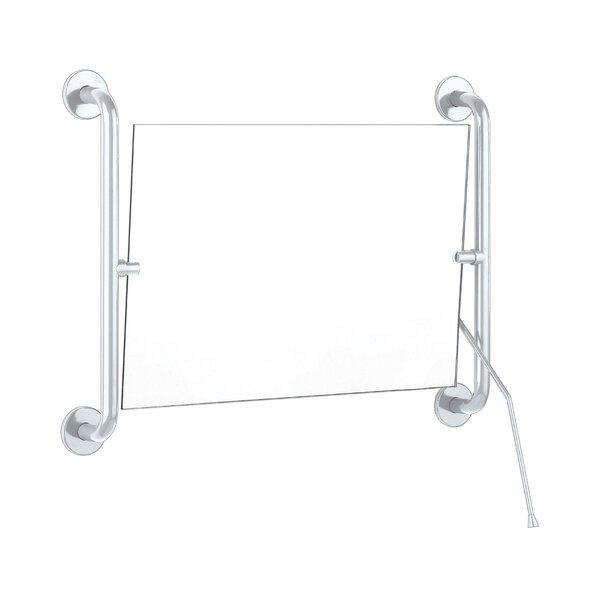 Kippspiegel mit Hebel 420 x 600 mm Edelstahl weiß (Ersetzt durch Art. 510201N)