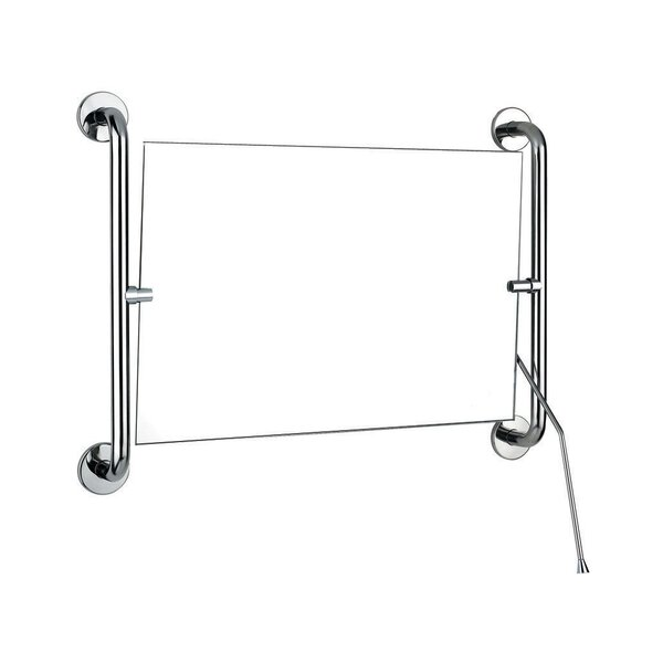 Kippspiegel mit Hebel 420 x 600 mm Edelstahl hochglanzpoliert (Ersetzt durch Art. 510202P)