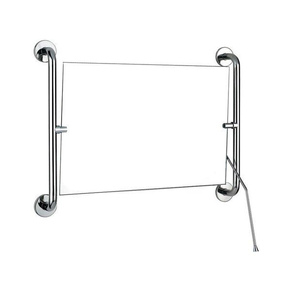 Kippspiegel m.Hebel 420x600mm Edst.sat. (Ersetzt durch Art. 510202S)