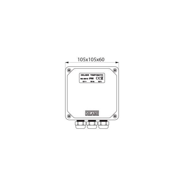 Elektronik-Box 12V ohne Trafo für TEMPOMATIC Urinal Hinterwandmontage