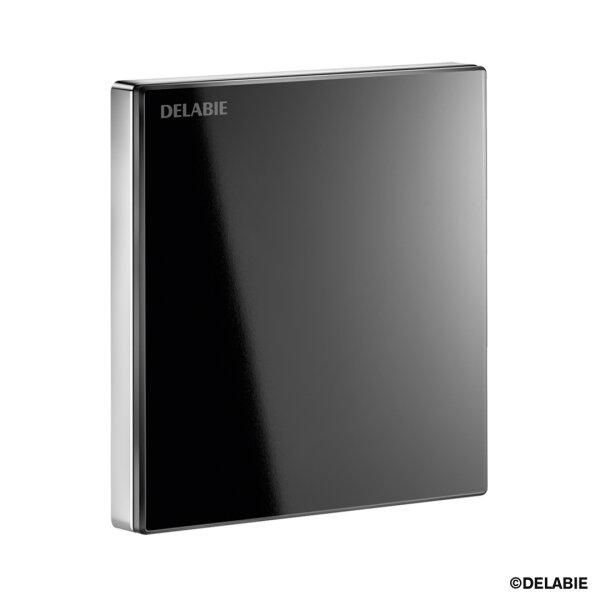 TEMPOMATIC 4 Urinalsp. Unterputz Glas schwarz 6V Batterie Set 2/2