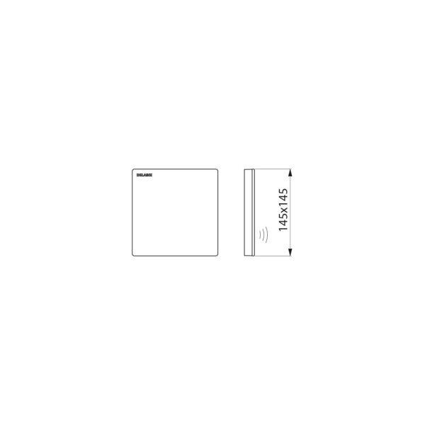 Abdeckplatte Glaskeramik  Batt. f. TEMPOMATIC 4 UR-Spüler Unterputz