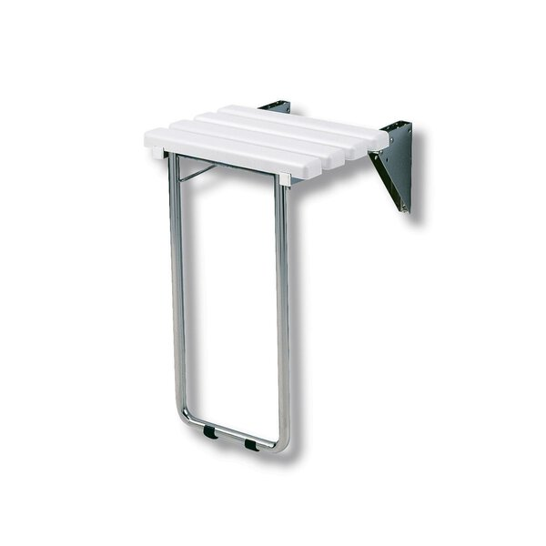 Duschsitz hochklappbar mit Latten, mit Fuß (Ersetzt durch Art. 510430)