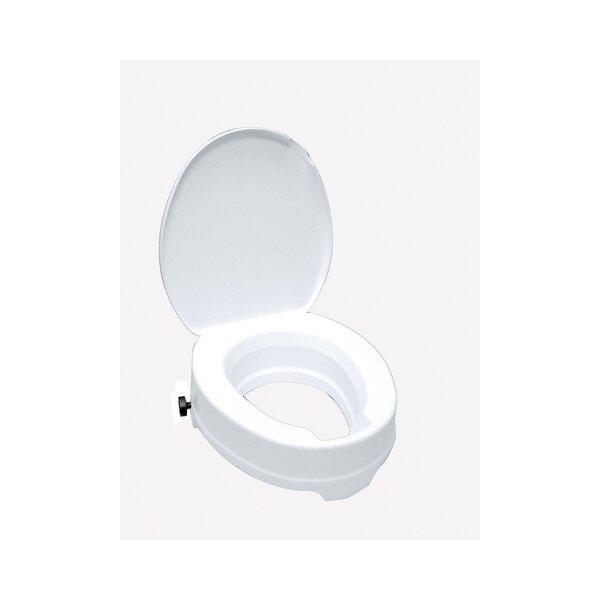 WC-Sitzerhöhung mit Deckel Kunststoff weiß