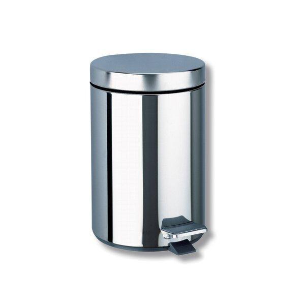 Abfallbehälter rund mit Pedalbetätigung 3 l Edelstahl hochglanzpoliert