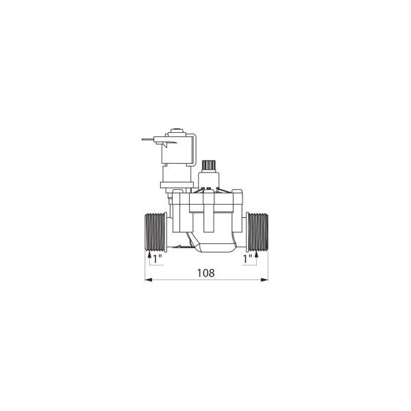 Magnetventil G1B 12V für TEMPOMATIC WC und Urinal