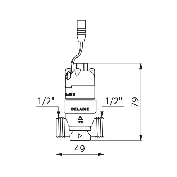 Magnetventil 6V m. Aufnahmegehäuse f. Box SECURITHERM Dusche