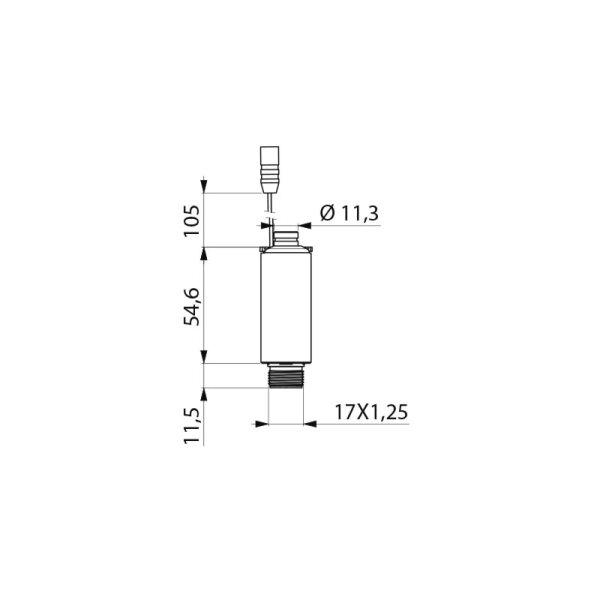 Magnetventil 6V M17x1,25 AG mit Durchflussmengenregler