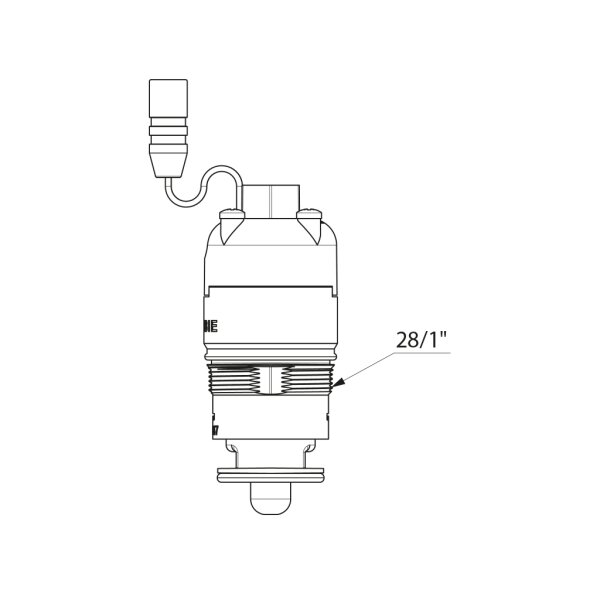 Magnetventil D2 für TEMPOMATIC Waschtisch, Urinal, Dusche 6V