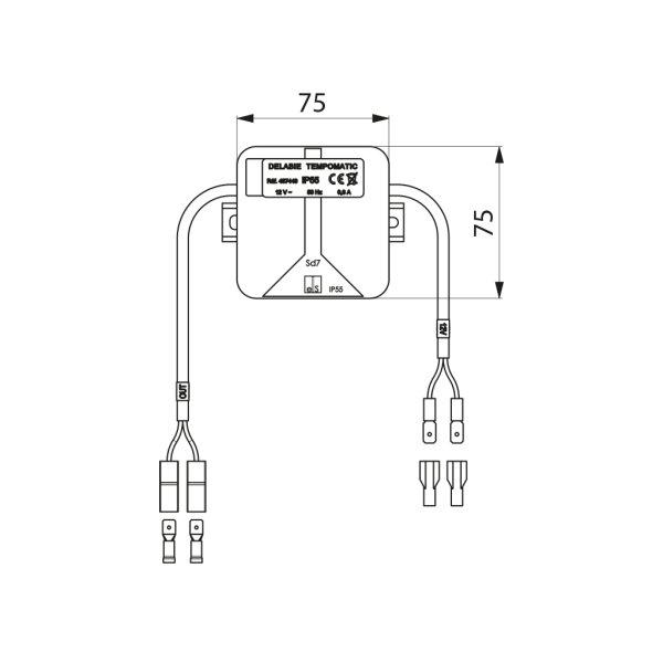 Elektronik-Box 12V für TEMPOMATIC Urinal/Dusche