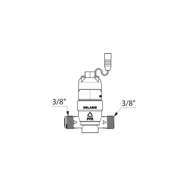 Magnetventil G3/8B 6V mit Sieb für TEMPOMATIC, BINOPTIC WT