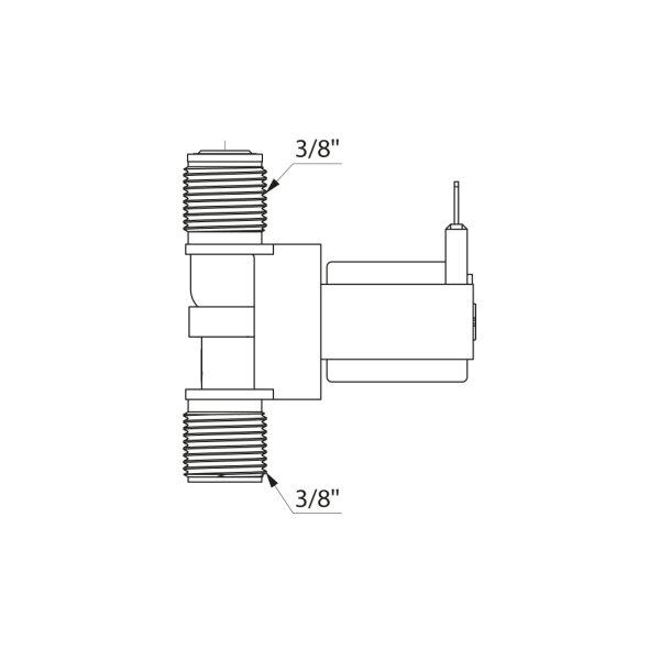 Magnetventil G3/8B 12V mit Sieb für TEMPOMATIC Waschtisch