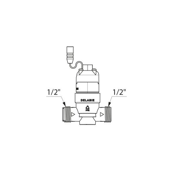 Magnetventil G1/2B 6V m.Sieb f. Dusch- und Urinal-TEMPOMATIC