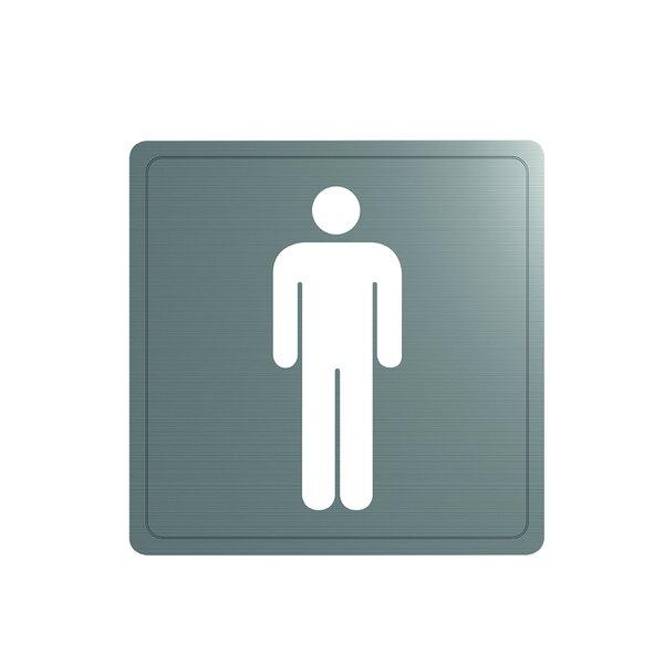 Wand Symbol Herren-WC Edst. 1.4301 satiniert (ex-0011400000)