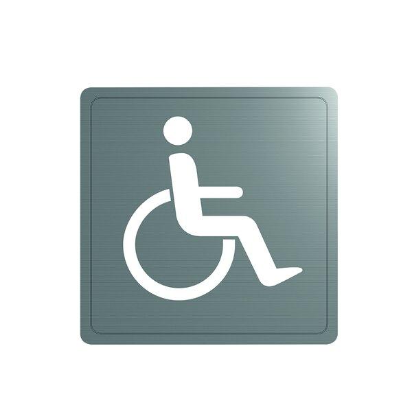 Wand Symbol Behinderten-WC Edst. 1.4301 sat (ex-0011370000)